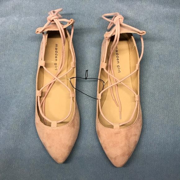 79b78f415 New madden girl ballet flats lace up dusty rose. NWT. Madden Girl.  M_5a7c5e3605f4305b23cdd2ba. M_5a7c5e399d20f0b9301ae4e5.  M_5a7c5e3a2ab8c516ec580151